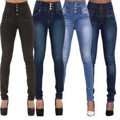Women-High-Waist-Skinny-Tight-Long-Jeans-Pencil-Stretch-Denim-Pants-Trousers   Supernatural Style