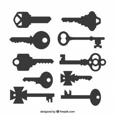 Silhouettes of keys