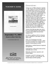 This printable teacher's guide contains discussion questions, lesson ideas, and extension activities for September Attack on New York City, a book of firsthand accounts by people who lived through the terrorist attacks. Homeschool Curriculum, Homeschooling, Teaching Resources, Teaching Ideas, High School Literature, Teacher's Guide, Patriots Day, Tuesday Morning, September 11
