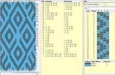 Finnisches diagonal muster- 24 tarjetas, 2 colores, repite dibujo cada 28 movimientos