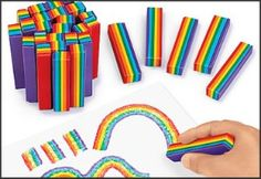 Rainbow crayons as prizes.