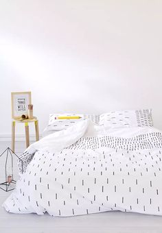 Hatch Duvet Cover Zana Bedding | Superbalist.com Hatch Pattern, Neutral Palette, Minimalist Design, Your Space, Duvet Covers, Bed Pillows, Living Spaces, Pillow Cases, Bedding
