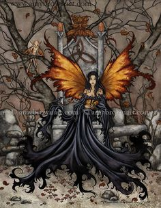 Queen Mab PRINTS-OPEN EDITION - Dark Fae - Amy Brown Fairy Art - The Official Gallery