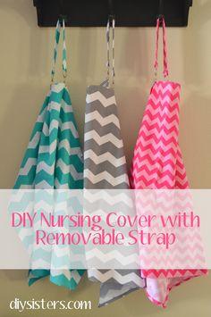 DIY Nursing Cover with Removable Strap | diysisters.com