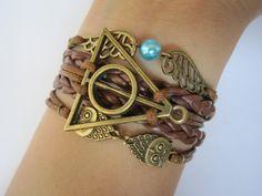 Combined Bracelet / Antiquied Bronze Snitch by WearingPretty, $6.99