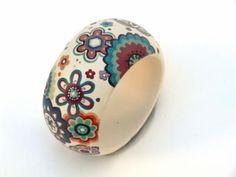 daniela pulseira madeira pintado a mão