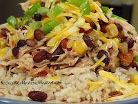 another pinner said: Not only easy, but healthy and delicious!  This crock pot recipe has become a Tuesday night staple for us.  Santa Fe Chicken over brown rice….YUMMY!
