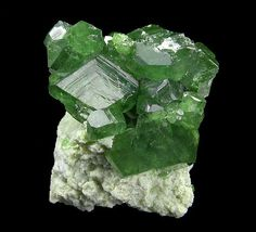 Andradite (var: Demantoid)  ~ Antetezambato, near the town of Nosy Faly, Ambanja District, Diana Region, Antsiranana Province, Madagascar