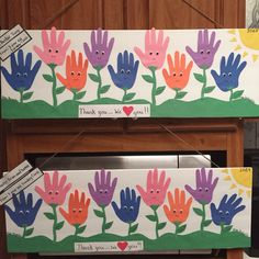 Pastor appreciation day...all items purchased at $1 store...traced our Sunday School children's hands to make the flower and wrote each of their names on the leaf of the flower!!!!