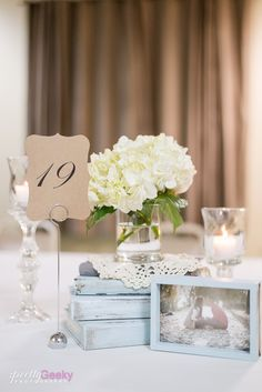 Wedding Table decor, Neutral colors, amazing personalization. Beige, brown, and light blue. Fresno Wedgewood Wedding Photo