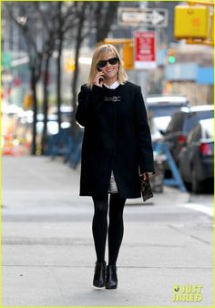 bd493e14b25 Reese Witherspoon Enjoys Rare Warm New York Weather!  Photo Reese  Witherspoon is super chic in a black ensemble as she chats on the phone in  the Tribeca ...