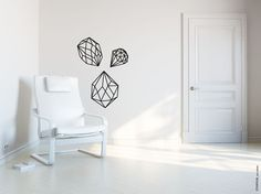 Scandinave design VINYL Decal Wall Art sticker. by TANGRAMartworks