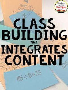 These class building activities integrate content so that you are providing your students with vital social interaction and community building all while sticking to your curriculum!