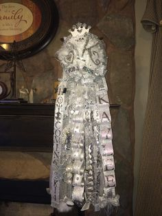 Senior Homecoming Mum, White and Silver. Hope she loves it!!