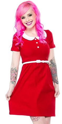 STEADY ANNIE DRESS RED $72.00 #steady #dress #retro #pinup