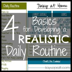 A free daily printable to help you stick to a routine and develop important daily habits.