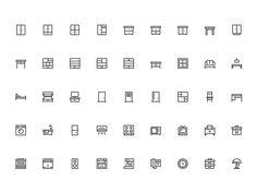 Furniture - Outline icon design
