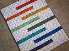 MODERN STRIPED Baby Quilt Made To Order Perfect size for your Sweet Little One…