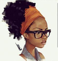 Urban-Muse Magazine interview and feature with American Artist Mel Milton. Black Love Art, Black Girl Art, Black Is Beautiful, Art Girl, Digital Portrait, Portrait Art, Mel Milton, Afrique Art, Natural Hair Art