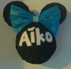 Blue custom Minnie pinata