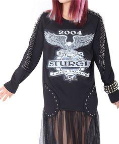 Printed Net Splice Dress
