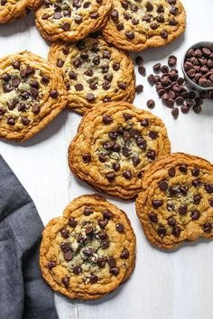 No mixer, chewy, chocolate chip with sea salt