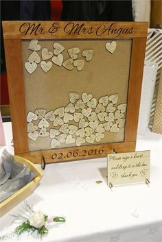 This is such a lovely alternative guest book idea from The Handmade Wedding Company!