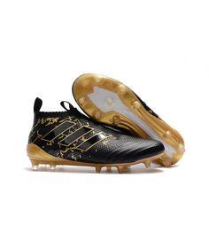 Adidas ACE 17 Purecontrol Firm Ground Fotballsko Svart Gull