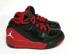 Nike Jordan Flight Origin 2 PS Shoes Toddler Boys Sz 10.5 Black Red  705161-016  #Nike