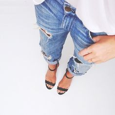 ripped + jeans