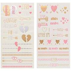 Capelli New York 2 Sheet Multi Bff Temporary Metallic Tattoos Gold Combo ONE SIZE *** Be sure to check out this awesome product. (This is an affiliate link and I receive a commission for the sales) #Makeup