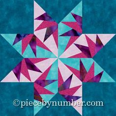 Falcon's Star Paper ... by PieceByNumber | Quilting Pattern - Looking for your next project? You're going to love Falcon's Star Paper Pieced Block by designer PieceByNumber. - via @Craftsy