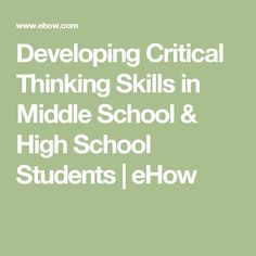 critical thinking middle school Critical thinking middle school home at or classroom any in performed be can skills these developing for activities intelligent, into develop students school middle.