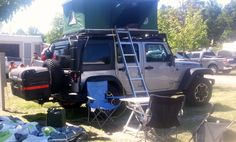 Jeep Top Tent for the roof rack of a jeep www.bigfoottents.com Jeep Tent, Jeep Camping, Top Tents, Roof Top Tent, Roof Rack, Camper, Design Ideas, Vehicles