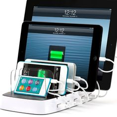 PowerDock 5 | It takes up only about as much room on your countertop as a single iPad.