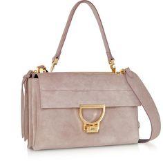 a21b35202981a6 Coccinelle Peony Arlettis Medium Suede Shoulder Bag w/Strap at FORZIERI
