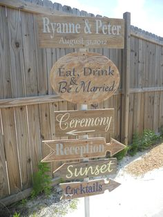 Wedding Signs, Rustic Wedding Directional Sign. Mountain Wedding Sign, Country Chic Wedding..You Customize:). $150.00, via Etsy.