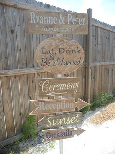 Wedding Signs, Rustic Wedding Directional Sign. Mountain Wedding Sign, Country Chic Wedding..You Customize:). $150.00, via Etsy.