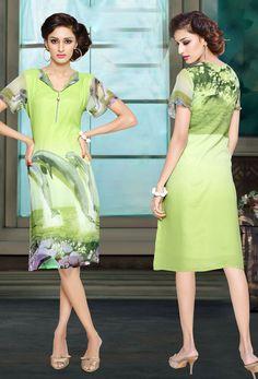 #Readymade #Lime #Green #Georgette #Kurti #nikvik  #usa #designer #australia #canada #freeshipping #greenkurtis #greenkurtas