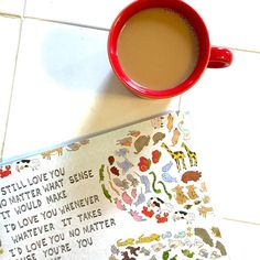 Weekends = coffee with our picture books. (Pictured here: The Awesome Book of Love by @dallasclayton)