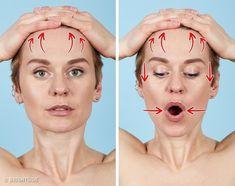 Facial Yoga Exercises, Face Care, Skin Care, Face Yoga, Face Massage, Tips Belleza, Health And Beauty Tips, Beauty Skin, Yoga Fitness