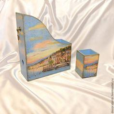 Интерьерные слова ручной работы. Ярмарка Мастеров - ручная работа Закат на набережной. Handmade.