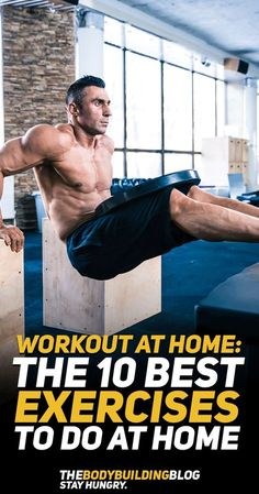 Why go to the gym when you can workout at home? Check out the 10 best exercises to do at home so that you can sculpt your body and achieve the fitness physique you strive for! Lower Ab Workouts, Fun Workouts, At Home Workouts, Workout Exercises, Fitness Exercises, Workout Tips, Workout Plans, Full Body Workout Routine, Workout Challenge
