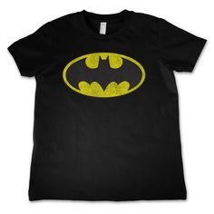 Batman Distressed Logo Kids T-Shirt Hybris Kids T-Shirt, Batman www.