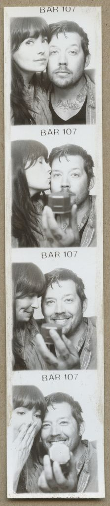 What a simple,creative little way to capture the moment. Love this photo booth idea. What I love even more is that they are both photographers : )