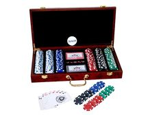 Package Content- Includes 1 Case, 300 chips, 2 decks of cards, 5 dices & 1 Dealer token. The chips are of approx 11.5 grams each and are perfectly balanced to give you an authentic casino feel and sound. Poker Chips Set, Poker Set, Brass Hinges, Casino Poker, Wooden Case, Bar Accessories, Deck Of Cards, Groomsman Gifts, Gift For Lover