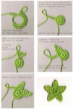 Le crochet – Page 2 – Edwige Bufquin Appliques Au Crochet, Crochet Flower Patterns, Crochet Motif, Diy Crochet, Crochet Crafts, Crochet Flowers, Crochet Baby, Crochet Projects, Tutorial Crochet