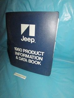 Jeep 1980 Product Information and Data Book Reference and sales promotion #Jeep #ProductInformationandDataBook #productBook #DataBook #Information #Automotive #1980 #1980Jeep #dandeepop Find me at dandeepop.com