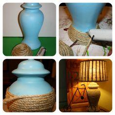 DIY rope lamps