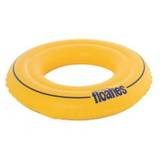 Swim Ring Size: Small by Floaties. $9.95. Recommended for children being introduced to swimming. UV treated so material wont deteriorate in the sun. 30 mil vinyl - the thickest on the market!. Easy and comfortable to wear. Dual air chambers with non - return safety valves. 14010031USA Size: Small Features: -Swim ring.-Small size for children 2 to 3 years, 33 to 39 lbs.-Large size for children 3 to 6 years, 39 to 66 lbs.-Non return safety valve.-Use as aid to hol...